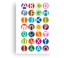 ABC - In Swedish now Canvas Print
