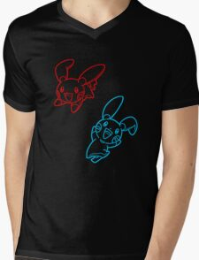 Plusle and Minun Best Friends shirt Mens V-Neck T-Shirt