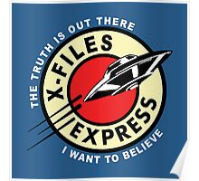 X Files Express Poster