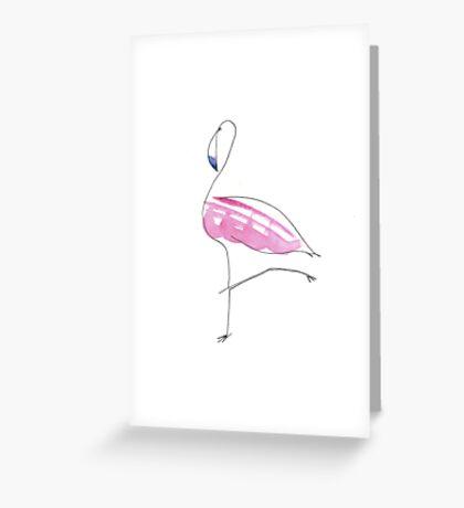 flamingo vogue Greeting Card