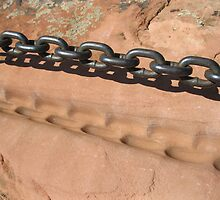 Sandstone and Metal Chain by Alli Ingalls