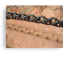 Sandstone and Metal Chain Canvas Print