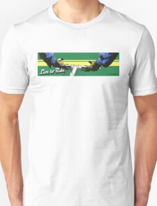 Live to Ride Handle Bars - Blue/Green Unisex T-Shirt