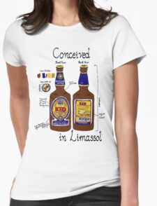 Conceived in Limassol Womens Fitted T-Shirt
