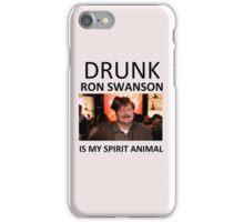 Drunk Ron Swanson is my Spirit Animal iPhone Case/Skin