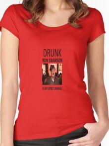 Drunk Ron Swanson is my Spirit Animal Women's Fitted Scoop T-Shirt