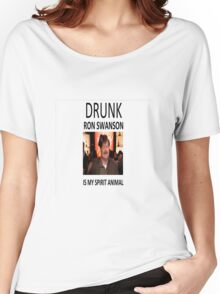 Drunk Ron Swanson is my Spirit Animal Women's Relaxed Fit T-Shirt