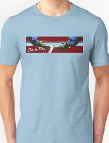 Live to Ride Handle Bars - Blue/Red T-Shirt