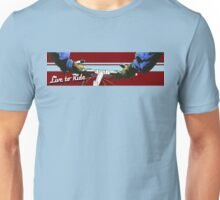 Live to Ride Handle Bars - Blue/Red Unisex T-Shirt