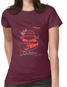 Journey With Dublin [red version] Womens Fitted T-Shirt