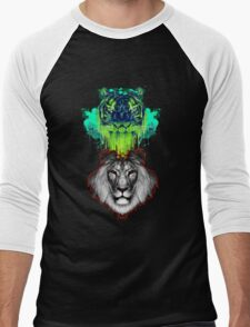 Tigers And Lions In Colour Men's Baseball ¾ T-Shirt