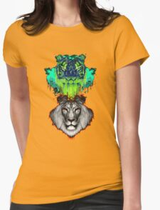 Tigers And Lions In Colour Womens Fitted T-Shirt