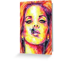 BEE STUNG LIPS / Lana Del Rey Greeting Card