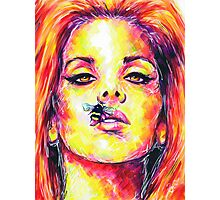 BEE STUNG LIPS / Lana Del Rey Photographic Print