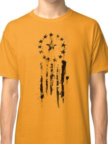 Old World Flag- Black Classic T-Shirt