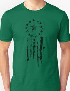 Old World Flag- Black Unisex T-Shirt