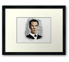 Benedict Cumberbatch as Sherlock Holmes Framed Print