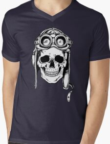 WWII Flying Ace Mens V-Neck T-Shirt