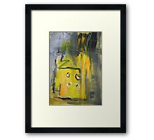 Yellow Double Breasted Jacket Framed Print