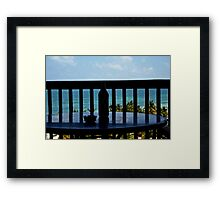 the day after. Framed Print