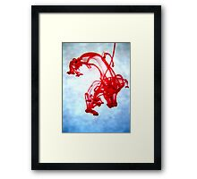 Red Ink in Water Framed Print