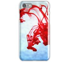 Red Ink in Water iPhone Case/Skin