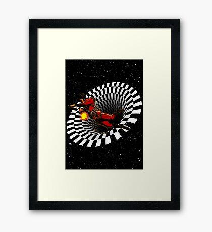 Black Hole Buck Framed Print