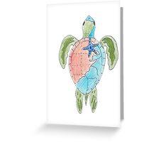 Earth Sea Turtle  Greeting Card