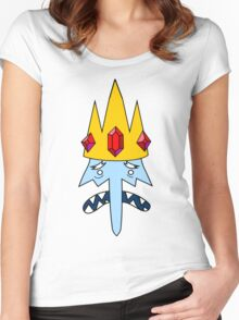 Ice King Face Women's Fitted Scoop T-Shirt