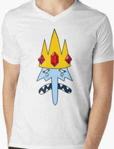 Ice King Face Mens V-Neck T-Shirt