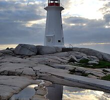 Lighthouse reflection by Caites