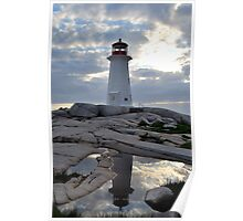 Lighthouse reflection Poster