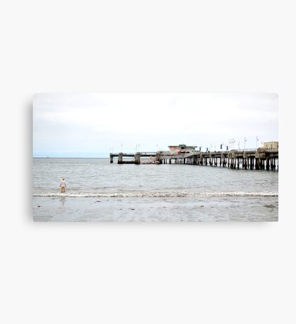 One Off the Pier Canvas Print