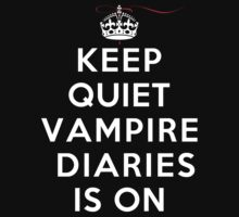 Keep Quiet Vampire Diaries Is On by rachaelroyalty