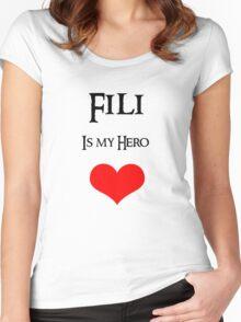 Fili is my Hero Women's Fitted Scoop T-Shirt