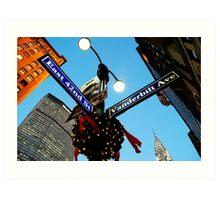 42nd St. NY, NY Manhattan Christmas Time  Art Print