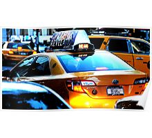 New York Taxi Cab at Midtown Manhattan, NY Poster