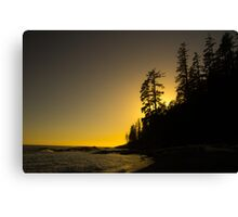 Tsusiat Sunset - West Coast Trail, Vancouver Island, Canada Canvas Print