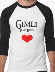 Gimli is my hero Men's Baseball ¾ T-Shirt