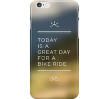 Great Day for a Bike Ride iPhone Case/Skin
