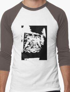 God Save the Queen. ER Crest- Transparent Men's Baseball ¾ T-Shirt