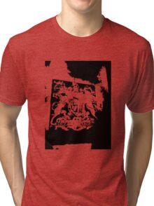 God Save the Queen. ER Crest- Transparent Tri-blend T-Shirt