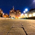 Boston - Long Wharf at Night by Mark Tisdale
