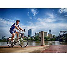 Biker Photographic Print