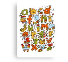 Little Alphabet Monsters Canvas Print