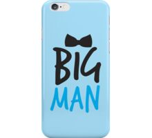 BIG MAN with bow tie cute blue bossy iPhone Case/Skin
