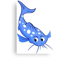 blue catfish with white spots Canvas Print