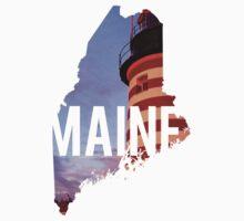 Maine Lighthouse Kids Tee