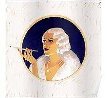 Vintage flapper girl Poster