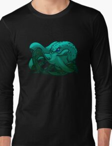 Octopus (Blue) Long Sleeve T-Shirt
